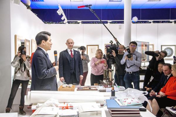 Презентация выставки «Великая китайская каллиграфия и живопись» имела невероятный  успех