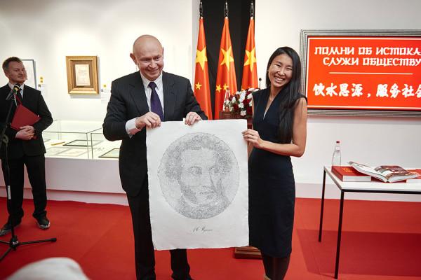 Современный музей каллиграфии получил в дар необычный портрет А.С. Пушкина