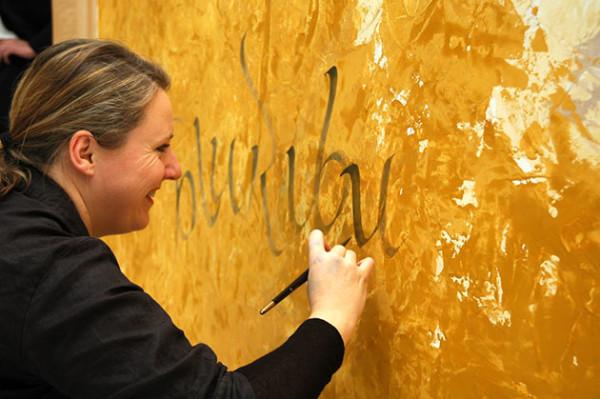 Музей мировой каллиграфии поздравляет с днем рождения Андреа Вундерлих