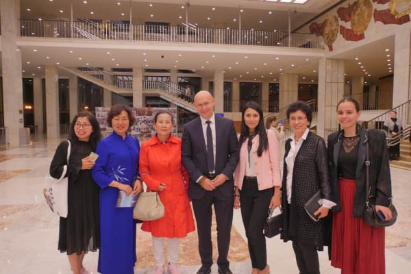 "Director of the Contemporary museum of calligraphy visited the premiere of the Chinese ballet ""Meeting with the Great River"""