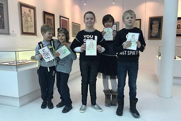 Юные каллиграфы поздравляют с праздником