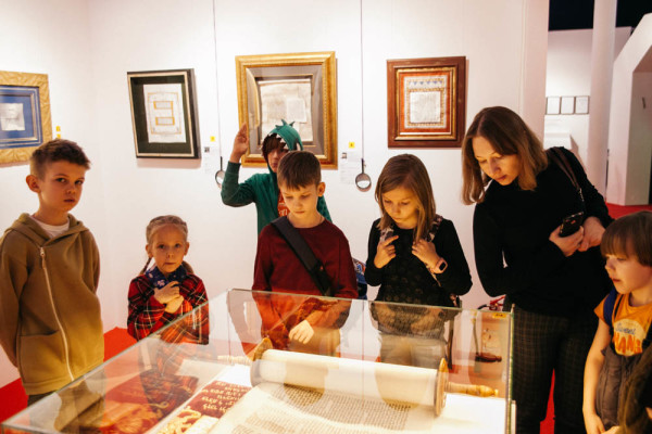 Students  of Moscow schools are very interested in visiting the World Calligraphy Museum