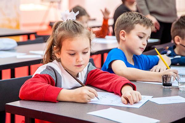 В Современном музее каллиграфии прошла экскурсия с мастер-классом для детей