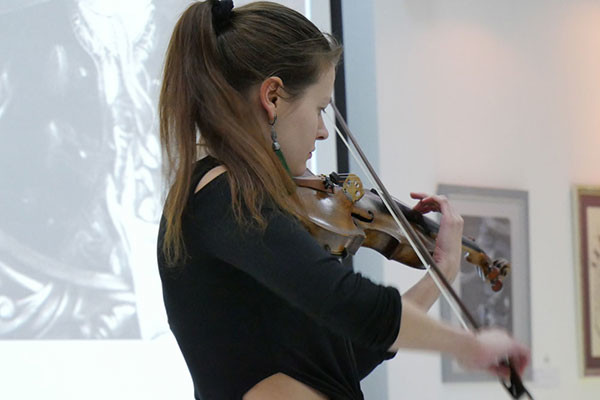Classical music evening in the Contemporary Museum of Calligraphy