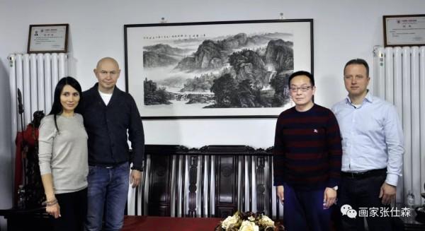 Директор Современного музея каллиграфии Алексей Шабуров встретился с директором Народной академии живописи КНР Чжан Шисэнем