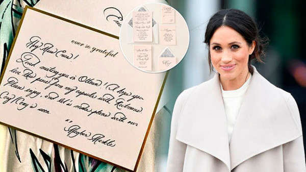 Meghan Markle calligraphy: Where did Meghan learn calligraphy?