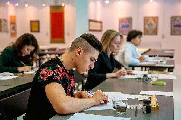Welcome to the Calligraphy Class in Sokolniki