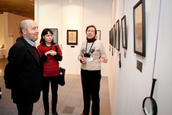 В Современном музее каллиграфии побывали гости из Великого Новгорода