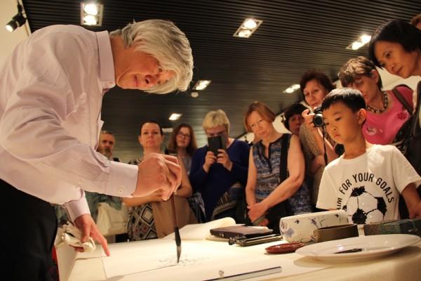 中国书画展在莫斯科开幕