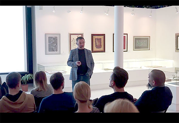 Video record of Tagir Safayev lecture in the Modern museum of calligraphy