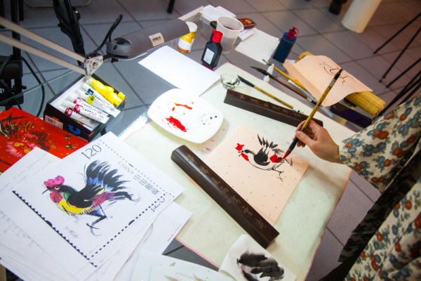 Hands-on experience with Chinese painting in the Contemporary Museum of Calligraphy