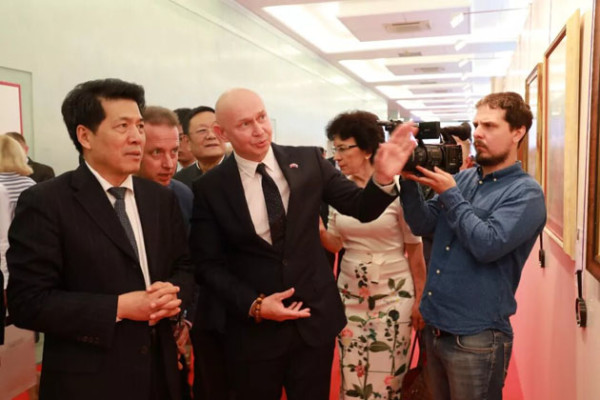 Ambassador of China to Russia Mr. Li Hui took part in opening ceremony of the Great Russian and Chinese Calligraphy exhibition, celebrating the 70th anniversary of establishing diplomatic relationship between Russia and China