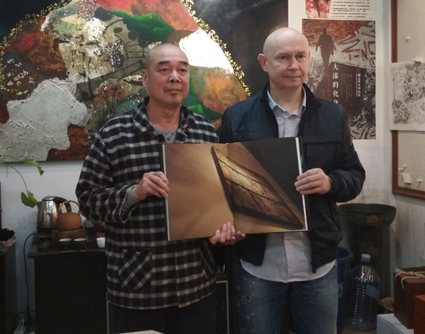 Alexey Shaburov, Director of Contemporary Museum of Calligraphy, paid visit to Mr. Wang Tian-Liang
