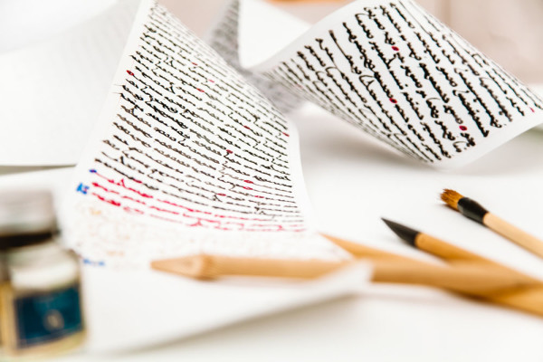 Все готово к началу VI Международной выставки каллиграфии