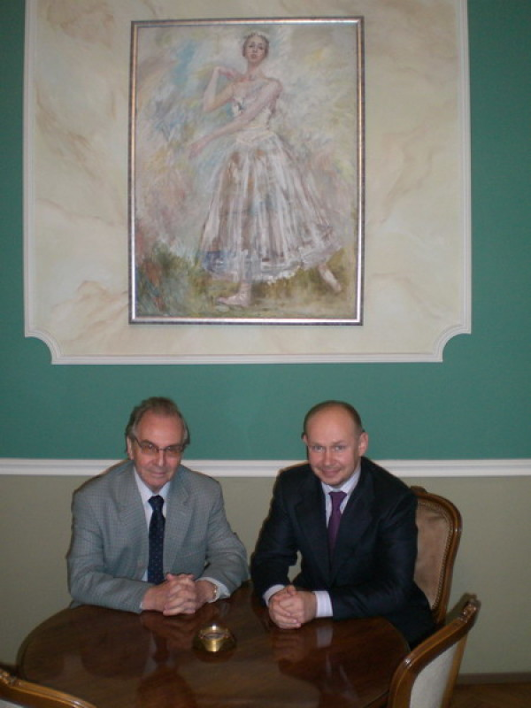 Alexander Bessmertnykh supported the International Exhibition of Calligraphy