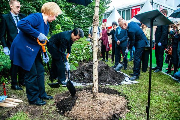 Tree of Friendship planted in Sokolniki