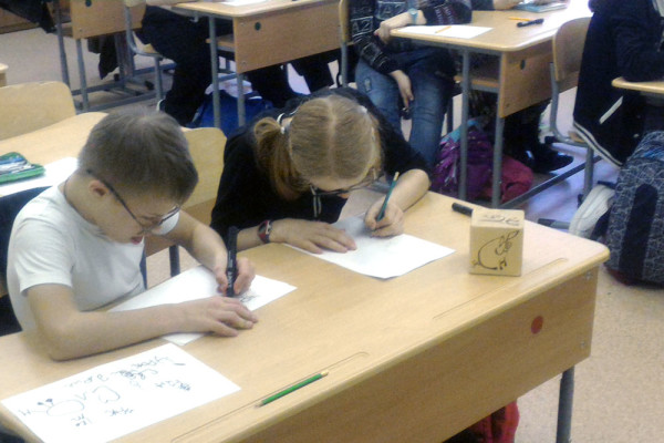 First steps in calligraphy for kids with autism