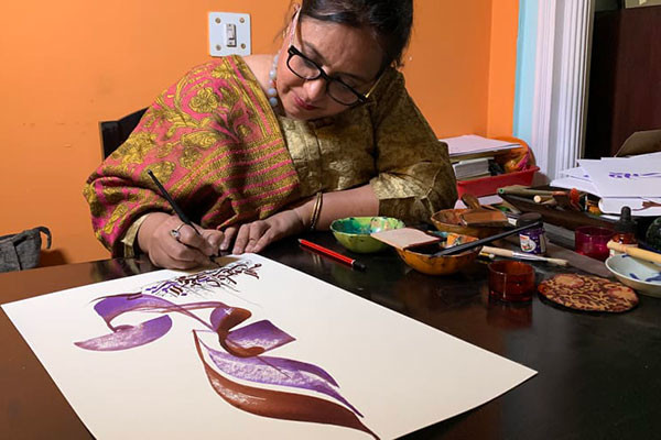 Qamar Dagar, the woman fighting to keep India's calligraphy culture alive