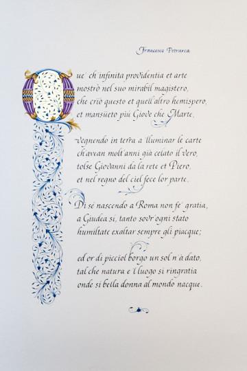 Francesco Petrarca. On the Life of Madonna Laura. Sonetto No. 4