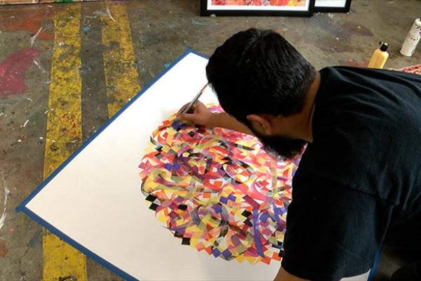 Художник Мухаммед Заман: «Объединять людей с помощью каллиграфити»
