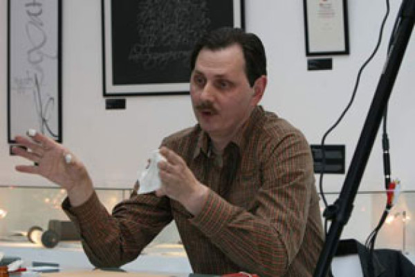 "December, 10, 2008. ""Master class for adults and children"". Master class by Anatoly Moshchelkov, a Moscow calligrapher"
