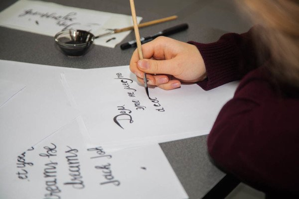 December 25, 2016 Brush Pen Calligraphy workshop on December 25