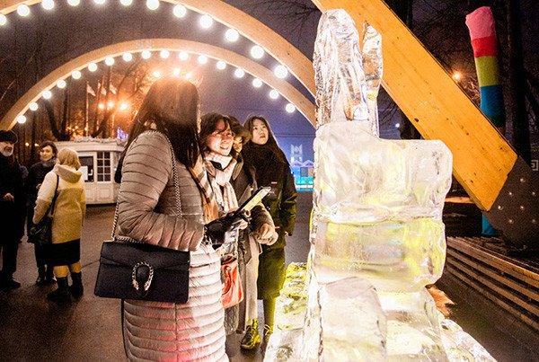 В парке «Сокольники» стартовал Харбинский международный фестиваль снежных и ледяных скульптур