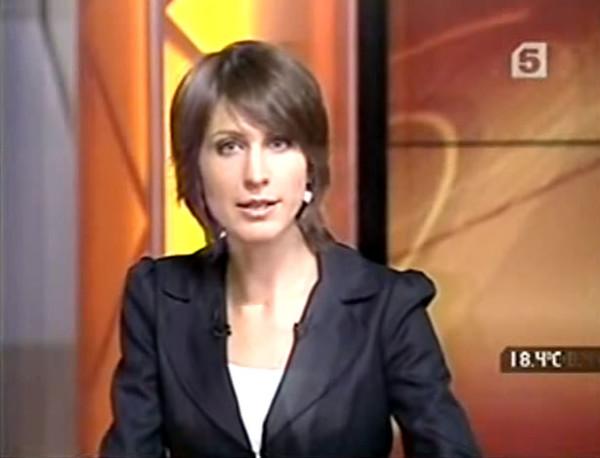 """""""Now"""" news program on Channel 5. September 10, 2010"""