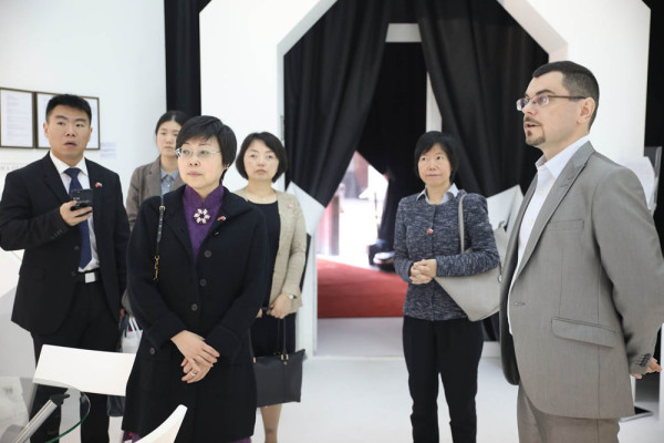 Shanghai delegation visited Contemporary Museum of Calligraphy