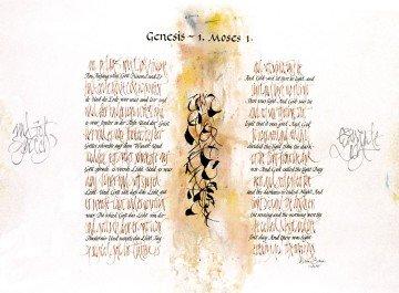 创世记,摩西书,第1章 (片段)