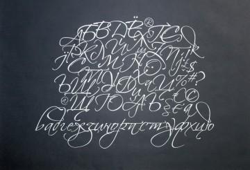 """Zapfina"" – cyrillicized script"