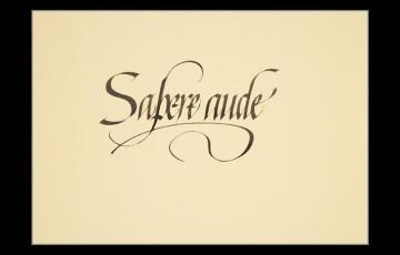 Sapere aude (敢作敢为知道)