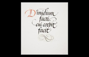 Dimidium facti, qui coepit facit (He who has begun has the work half done)