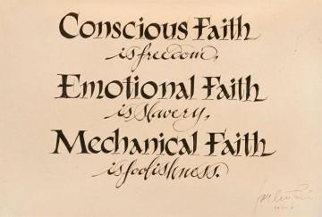 Conscious Faith… (text)