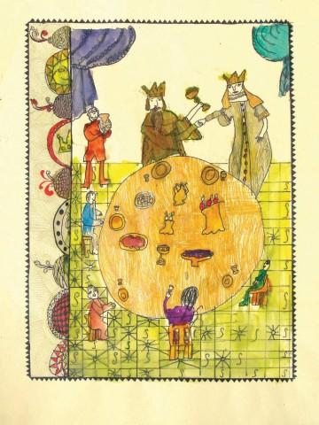 《沙皇萨尔坦的故事》。第9页