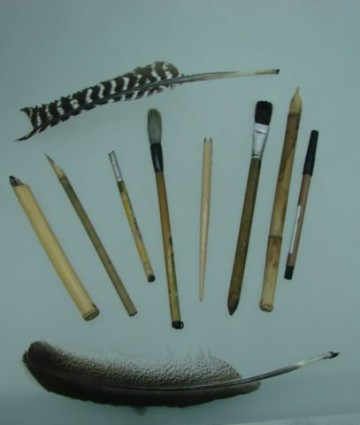 Pyotr Chobitko's writing utensils