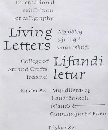 Выставочный плакат. Живые буквы. Рейкьявик