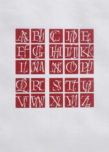 Алфавит в квадратах