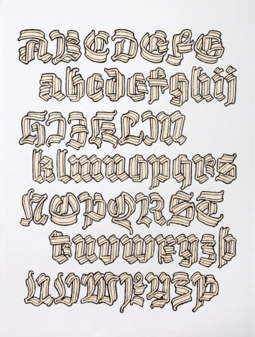 Ribbon black letter, Gothic script