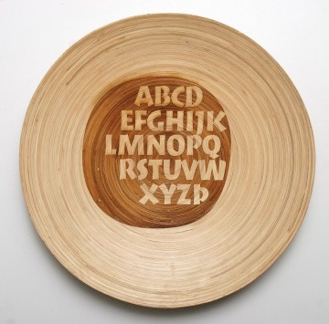 ABC. Wooden plate
