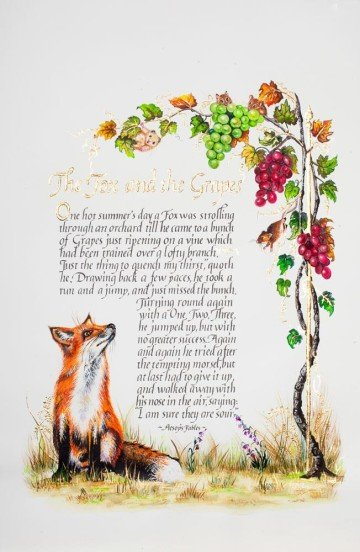 The Fox and the grape