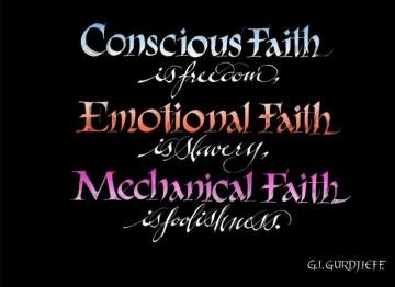 Conscious Faith…