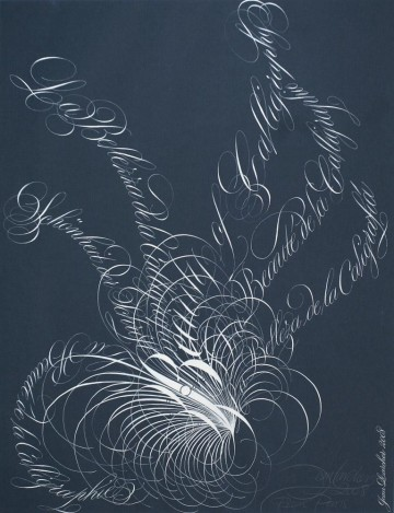 """Bouquet.<br> """"Beauty of Calligraphy"""" in five European languages"""