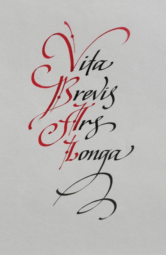 Artyom lebedev international exhibition of calligraphy for Vita brevis ars longa tattoo