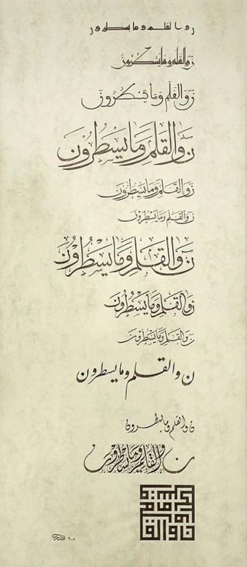 Каллиграфический свиток<br>«13 арабских шрифтов»