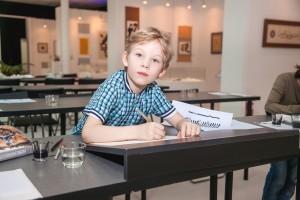 《意大利斜体书法》儿童培训班结业