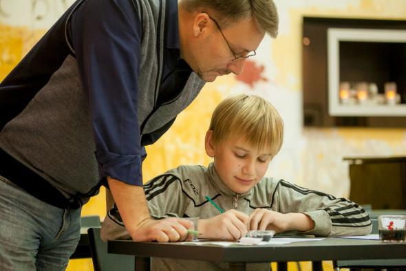 Занятия детского курса остроконечного пера