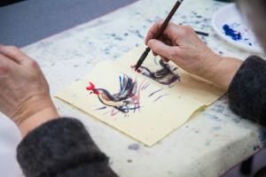 Мастер-класс «Огненный петух в стиле гохуа»