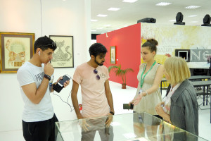 Foreign fans of the World Cup 2018 in the Contemporary Museum of Calligraphy