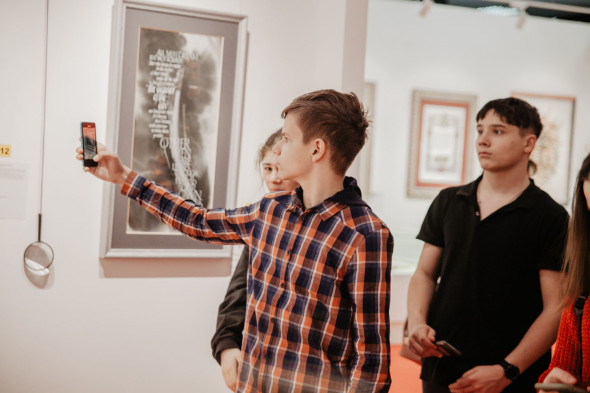 "A sightseeing tour was held at the World Calligraphy Museum with a master class for children of the ""Lichnost"" private school"